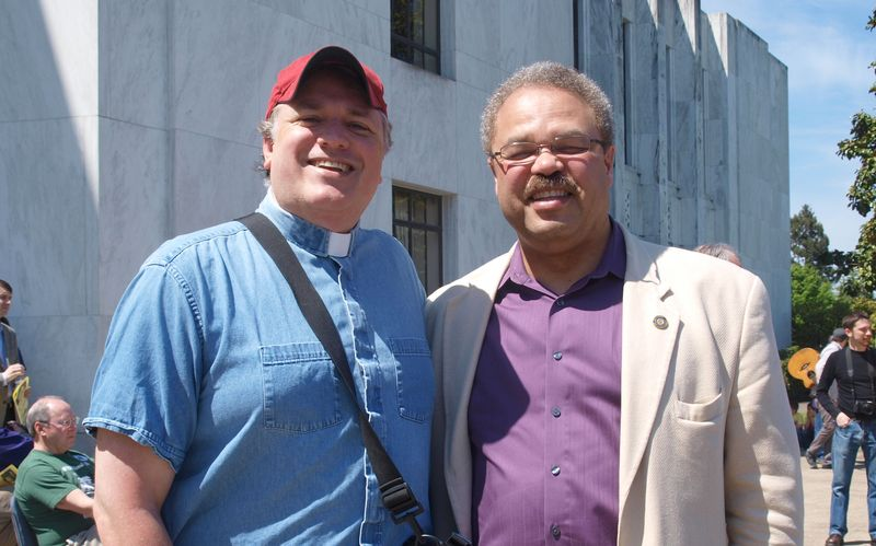 Rev. Chuck Currie and Rep. Lew Frederick