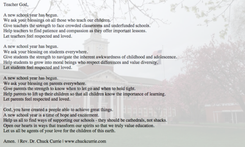 Prayer For The New School Year