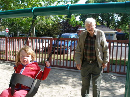 Grandpa and Katherine swing
